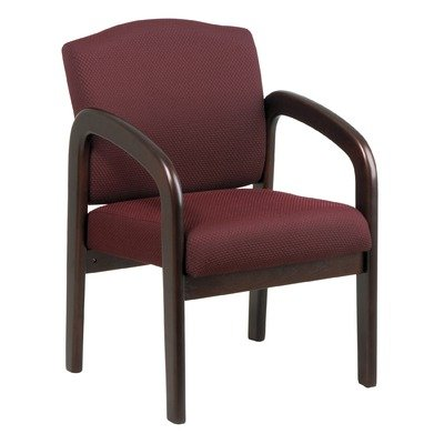 Visitor Chair, Taupe, Mahogany by Office Star