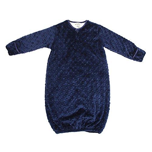 My Blankee Sleeper Gown Minky Dot, Navy, 3-6 Months