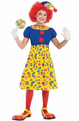 [Forum Novelties Circus Clown Girl Costume, Child Medium] (Childs Clown Costumes)