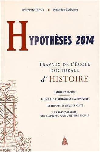 Livres gratuits Hypothèses 2014 : Travaux de l'Ecole doctorale d'histoire pdf epub