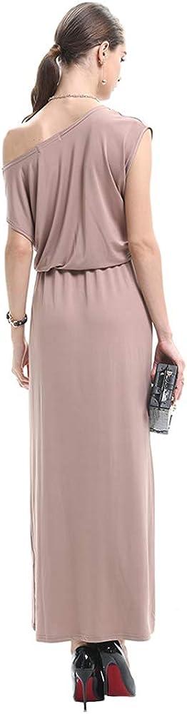 d.Stil Damen Kleider Sommer Lang /Ärmellos Verschiedene Trageweisen Basic Casual Maxikleid S-XL