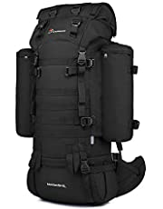Mardingtop 65+10L/65 Liter Internal Frame Backpack Tactical Military Molle Rucksack for Hunting Shooting Camping Hiking Traveling with Rain Cover, YKK Zipper