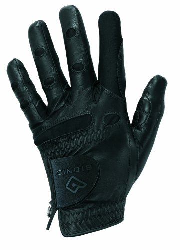 Bionic StableGrip Golf Glove - Men's Single Glove (Right M/L, Black)
