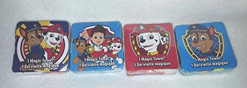 Nickelodeon Nick Jr. Paw Patrol Magic Towel Set of 4 Washcloths