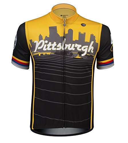 Pittsburgh Steel City Cyling Jersey - Made in The USA (Large)