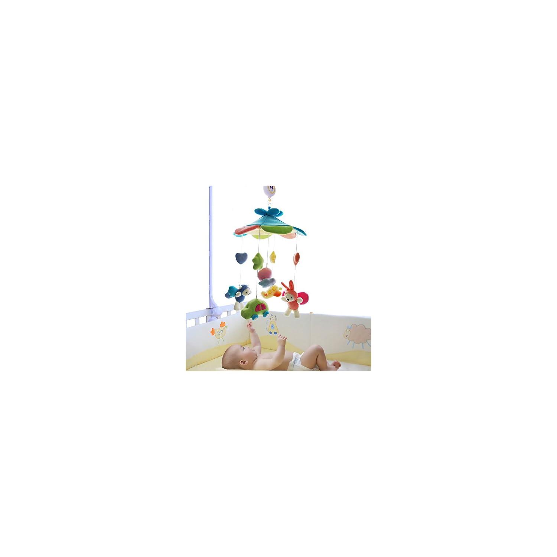 SHILOH Baby Crib Decoration Newborn Gift Plush Musical Mobile (Blue Sky)
