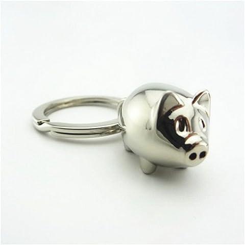 Lovely Mini Pig Key Chain Key Ring Cute Gift Keyring 1Pcs Charm Decoration Keyfob