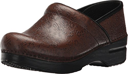Dansko Women's Professional Brown Floral Embossed 39 Regular EU Regular