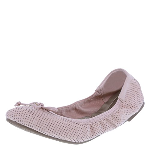 dexflex Comfort Women's Blush Perforated Women's Caroline String Tie Flat 7 Regular