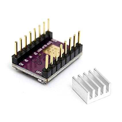 UEETEK 4-Layer TMC2100V1.3 Stepper Motor Driver Module with Cooling Fin for 3D Printer