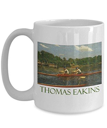 The Biglin Brothers Racing by Thomas Eakins: Ceramic Coffee Mug
