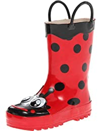 Western Chief Girls Printed Rain Boot, Lucy the Ladybug, 11 M US Little Kid