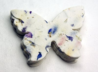 - Seed Paper Butterfly set of 24 with 100% recycled fibers and petals #45s - 3 inch