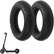 10x2.5 Mobility Scooter Tires, 10 inch Solid Rubber Tires, Electric Scooter Non Pneumatic Tires Compatible wit