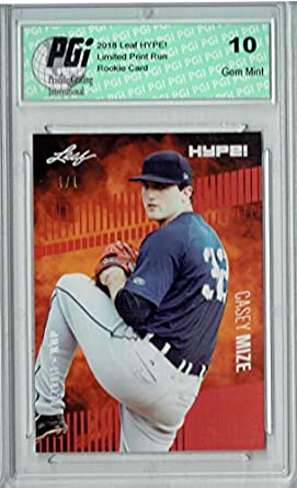 Amazoncom Casey Mize 2018 Leaf Hype 11 Red Blank Back 1 Of 1