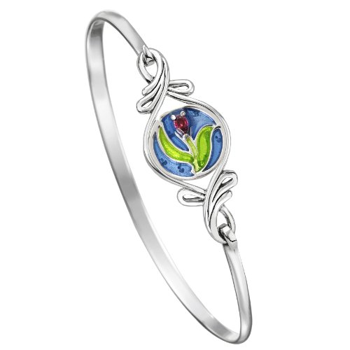 - Kameleon Jewelry Sterling Silver Double Flurish KBR002S Sma