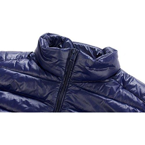 down macho Chaquetas chaleco párrafo recta mantener cuello de abrigo ligero breve cremallera 05 caliente la Fr55faRqcw