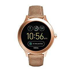 Fossil Q Women's Gen 3 Venture Stainless Steel Touchscreen Watch with Leather Strap, Beige: ((Model: FTW6005))