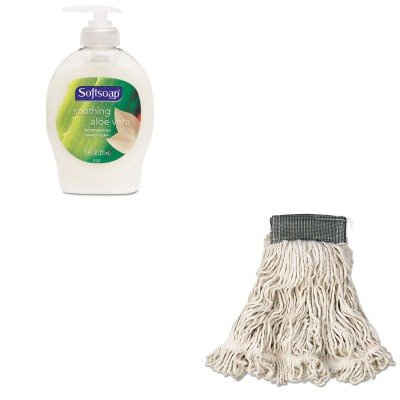 KITCPM26012EARCPA152WHI - Value Kit - Rubbermaid-White Compact Web Foot Wet Mop Heads 5quot; Headband (RCPA152WHI) and Softsoap Moisturizing Hand Soap w/Aloe (CPM26012EA) (Web Compact Foot Mop Wet)