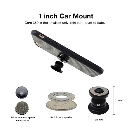 Caseco Core 360 Car Mount Phone Holder - Magnetic Dashboard