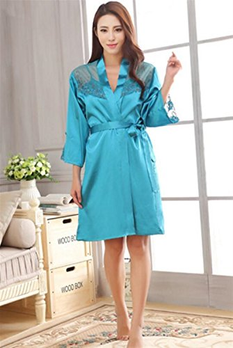 notte Yellow sexy BOBOJW Blue pigiama donne x large rilassante estate camicia accappatoio da set g4vxYqFwU4