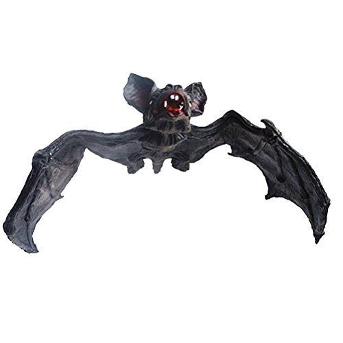 LUOEM Halloween Decor Large Size Hanging Bats Realistic Looking Novelty Toys for Decoration]()
