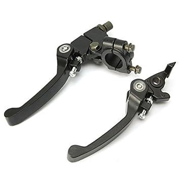 Ungfu Mall 2 PC 7//8-Zoll 22mm Lenker Kupplung Bremse Folding Schnapphebel f/ür 125cc 140cc Pit Dirt Bike