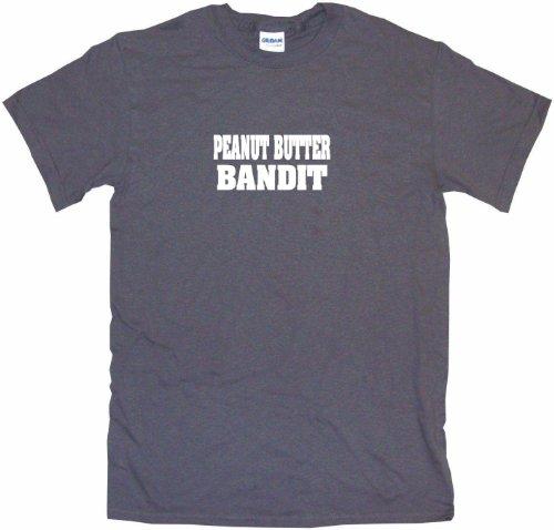 Peanut Butter Bandit Men's Tee Shirt 3XL-Charcoal