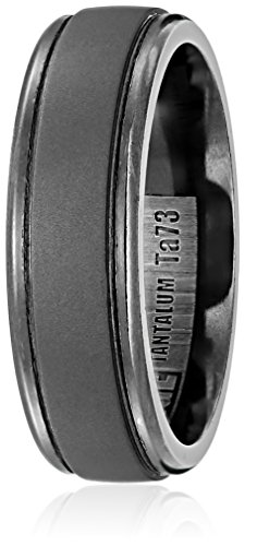 Mens-Tantalum-7mm-Comfort-Fit-Matte-Finish-with-Polished-Round-Edges-Wedding-Band