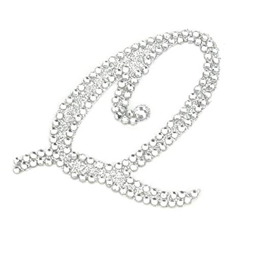 Rhinestone Alphabet Monogram Stickers Letter Initial Wedding Favor Invitation (Letter Q) from Diamond Party Confetti