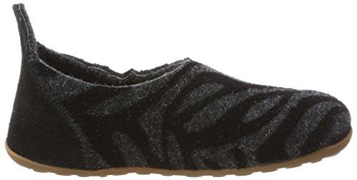 Bisgaard Wool Basic, Zapatillas de estar Por Casa Unisex Niños Grau (172 Grey-Zebra)