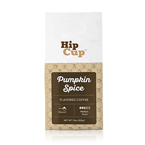 HipCup Pumpkin Spice Flavored Coffee, Ground – 10 oz