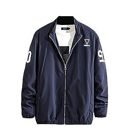 Men's  Windproof Jacket Leisure Oversize Zip-up Wrap Coat
