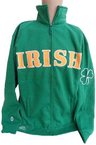 Ireland Full Zip Sweatshirt, - Bay Socks White Donegal Ireland