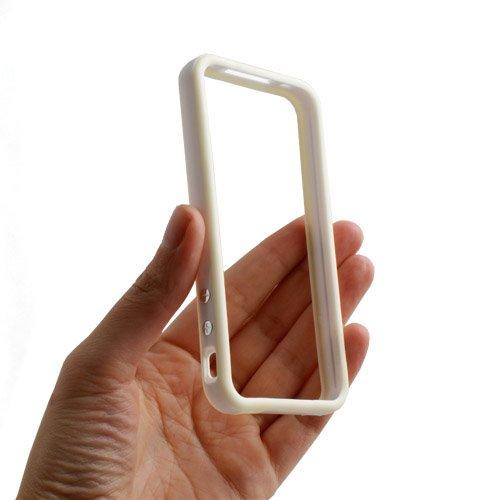 System-S Protector Bumper Tasche Schutz Hülle Frame Case Schutzhülle in Weiß Grau für Apple iPhone 4