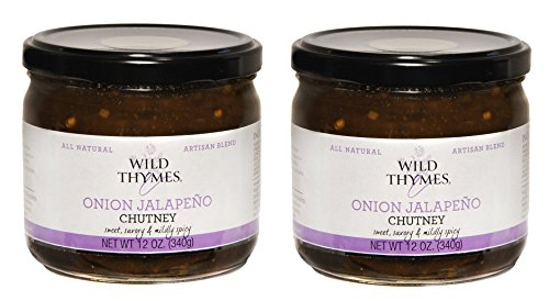 Onion   Jalapeno Spicy Chutney By Wild Thymes Farm  12 Oz  Pack Of 2