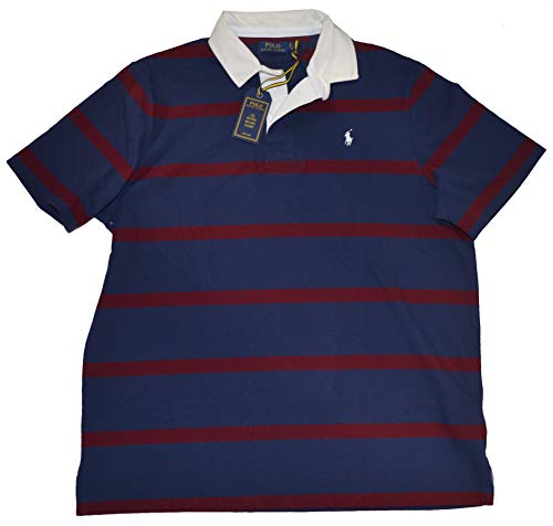 n's Iconic Rugby Short Sleeve Polo Shirt (Blue, X-Large) ()
