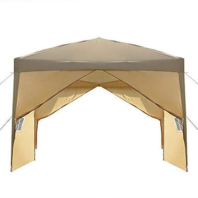 SHENWEI LIU Party Tent 3 x 3m Two Doors & Two Windows Practical Waterproof Right-Angle Folding Tent Khaki : Garden & Outdoor