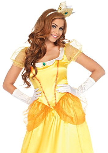 Leg Avenue Women's Yellow Sunflower Princess Costume, Orange, Large ()