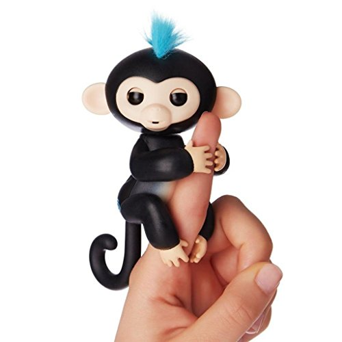 Price comparison product image Interactive Baby Monkey,LEDeng Fingerlings Pet Electronic Little Baby monkey Children Kids Toys (Black1)