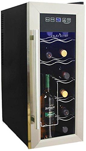 NutriChef AZPKTEWC12 Wine Chilling Refrigerator, 12-Bottle