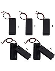 LAMPVPATH 5Pcs 2 AAA Battery Holder with Switch, 2X 1.5V AAA Battery Holder Case with Wire Leads and ON/Off Switch(5 Pack)