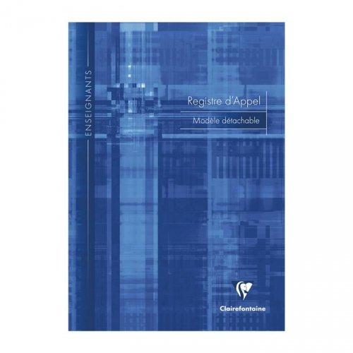 CLAIREFONTAINE - 1 Registre d'appel 21x29.7cm - Pages pré dé coupé s dé tachables - Plusieurs coloris disponibles