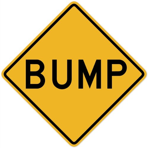 Walls 360 Peel & Stick Traffic and Street Sign Wall Decals: Bump (12 in x 12 (Bump Sign)