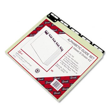 Smead® Alphabetic Top Tab Indexed File Guide Set GUIDE,METAL TAB,A-Z,LTR25 (Pack of3) ()
