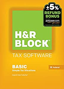 H&R Block 2015 Basic Tax Software +  Refund Bonus Offer - Mac Download