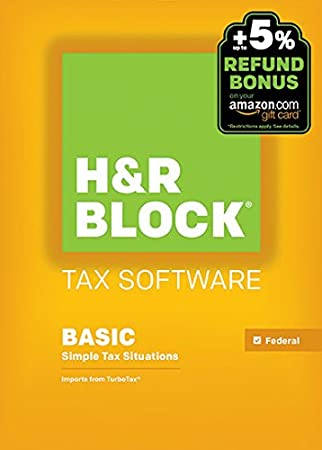 H&R Block 2015 Basic Tax Software +  Refund Bonus Offer - Windows Download [Old Version]