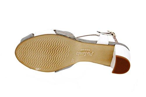 sandales cuir Piesanto Gris talons confortables confort à amples femme en 1256 Chaussure qWC6f1C