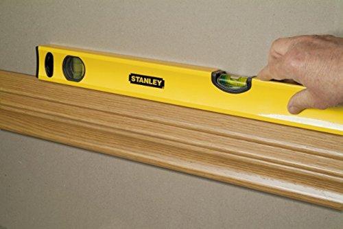 Stanley Wasserwaage Klassik, 40cm Länge, horizontale/vertikale Libelle, Schockabsorber, Genauigkeit ±0.5mm/m STHT1-43102