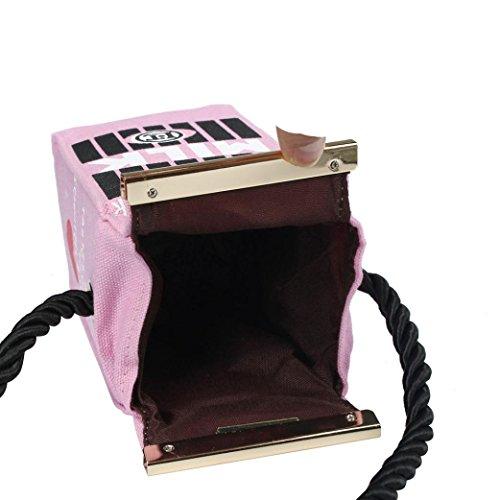 Latte Colore Tela Zarupeng Sacchetto Di Del Donne Fumetto Delle Rosa 6wF6q1